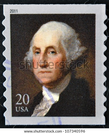 UNITED STATES OF AMERICA - CIRCA 2011: A stamp printed in USA shows president George Washington, circa 2011