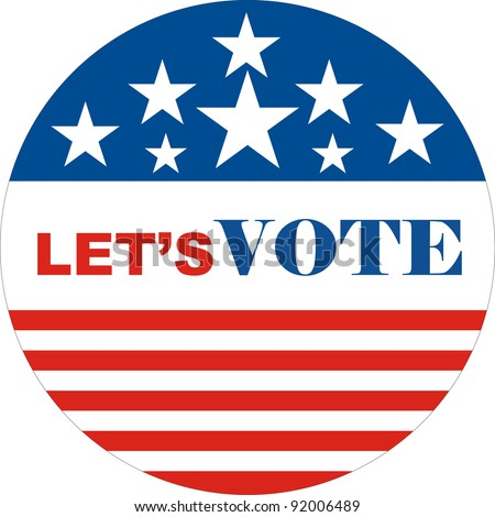 united states of America election let's vote sign