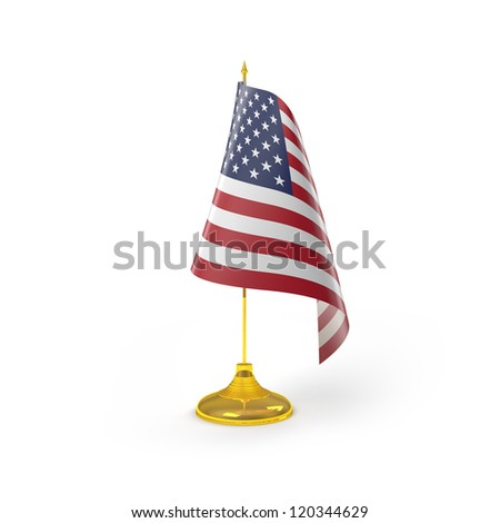 United States of America Flag Detail Render
