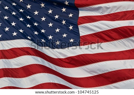 United States of America flag Image of the american flag flying in the wind.