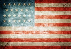United States of America flag on grunge paper