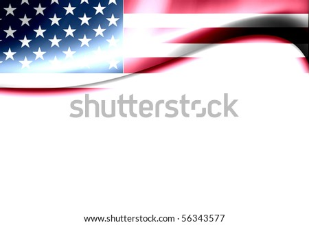 United States of america flag wave. Dynamic  illustration