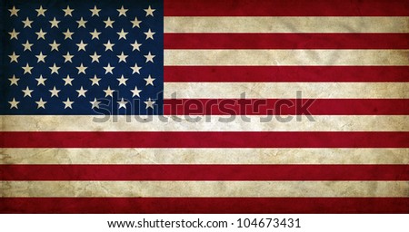 United States of America grunge flag