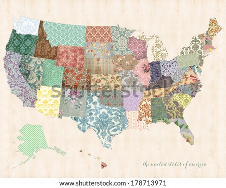united states of america map on ...