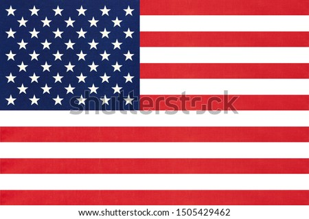 United states of America national fabric flag textile background. Symbol of international world American country. State official USA sign.