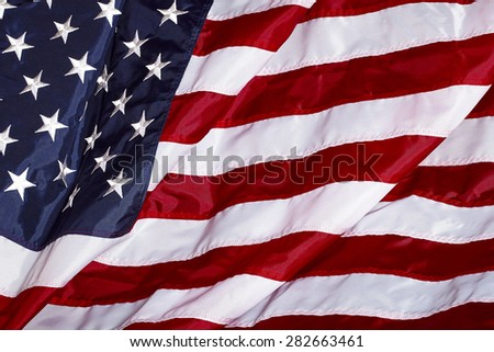 United States of America USA Flag Made In USA in the wind
