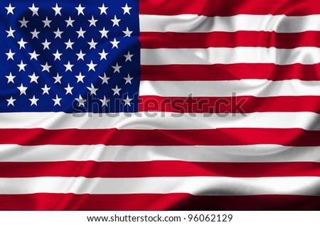 United States of America waving flag