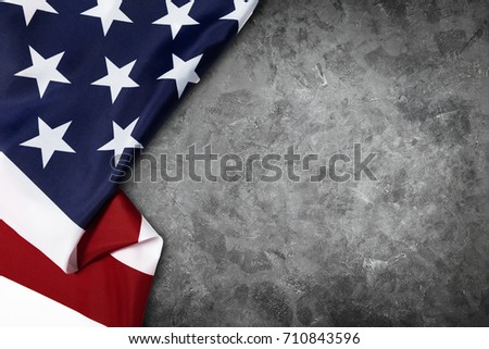 United States of American flag border isolated on grey background with clipping path #710843596