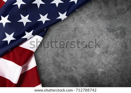 United States of American flag border isolated on grey background with clipping path #712788742
