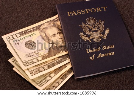 United States Passport with Cash
