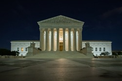 United States Supreme Court at Night