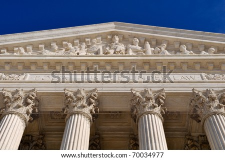 United States Supreme Court Building Pillars