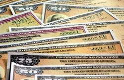 United States Treasury Savings Bonds - Investment wealth concept