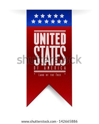 united states. usa flag banner illustration design graphic