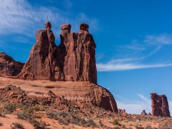 United States. Utah. Arches National Park. Park Avenue Trail. The Three Gossips.