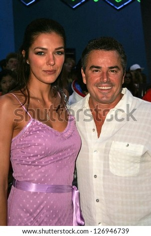 "UNIVERSAL CITY - JULY 19: Adrianne Curry and Christopher Knight at the Premiere Screening of ""Light Years Away"" at Universal City Walk Cinemas July 19, 2006 in Universal City, CA"