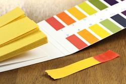 universal indicator paper with acidic testing