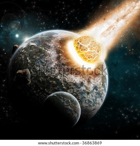 Universe and planet exploration - Earth Apocalypse explosion