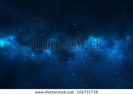 Stock Photo Universe filled with stars, nebula and galaxy