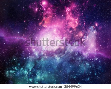 Photo of  Universe filled with stars, nebula and galaxy