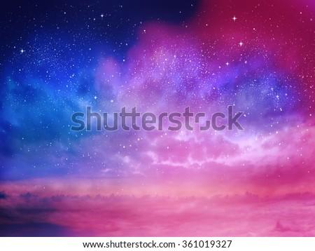 Universe filled with stars, nebula and galaxy #361019327