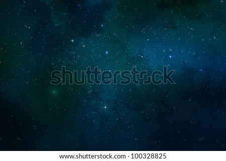 Universe filled with stars, nebula, galaxy and space dust
