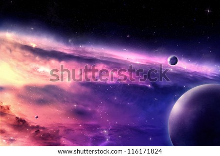 Stock Photo Universe scene in outer space
