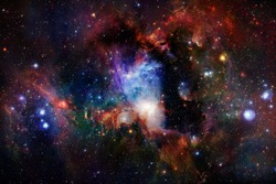 Universe scene with stars and galaxies in deep space showing the beauty of space exploration. Elements furnished by NASA.