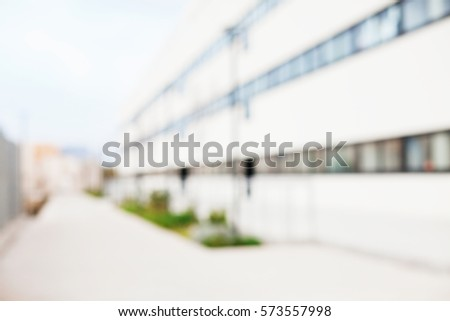 university blurred background
