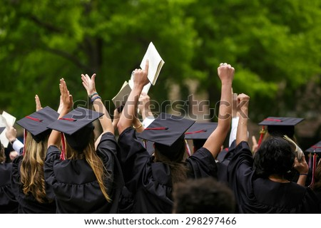 University graduation ceremonies on Commencement Day