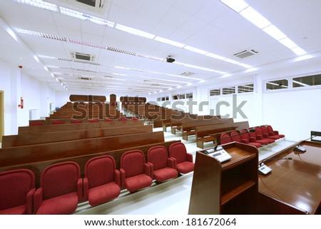 University lecture theater interior-university auditorium