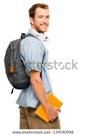 university student man back to school