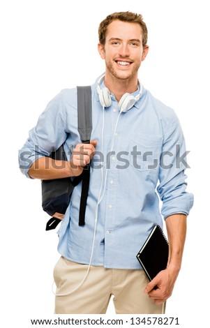 university student man back to school background