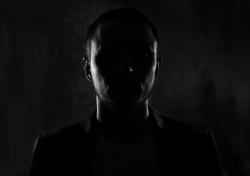Unknown male person silhouette