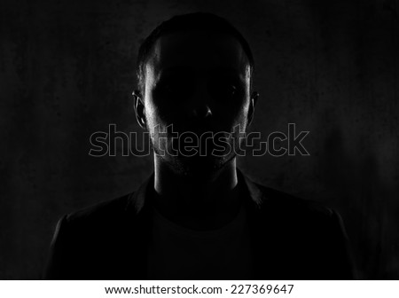 Unknown male person silhouette #227369647