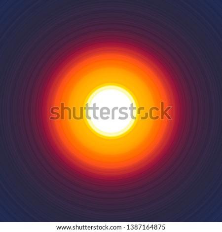 Unknown planet. Celestial body. Color ball. Cosmos. Fireball.