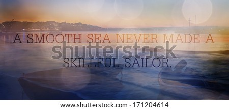 unknown quote sea abstract background