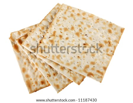 Unleavened bread traditional isolated on white background