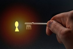 Unlock your potential. Symbolic photography of door opening.