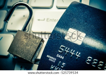unlocked security lock on...