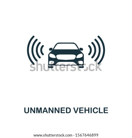 Unmanned Vehicle icon. Premium style design from future technology icons collection. Pixel perfect unmanned vehicle icon for web design, apps, software, printing usage.