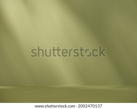 Unobtrusive botanical background with shadow on the wall - trend frame, cover, card, postcard. Exhibition Podium, stand, on pastel light аrchitectural background for premium product  -3D render.  Photo stock ©