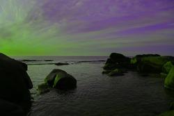 Unreal colors in sea scape