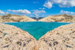 Unreal fantasy place, composite image made from images took in Cyprus, mirrored image