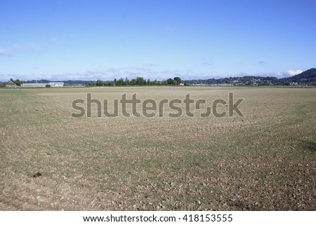 Unseeded, agricultural land is ready now for planting/Bare Agricultural Land/Agricultural land is ready now for planting.