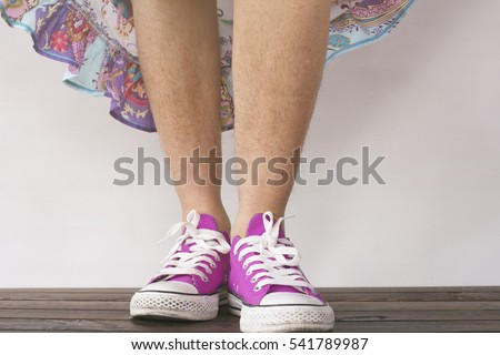 Unshaven legs