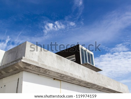 Unsold villa with blue sky background, shell core villa awaiting the potential buyer