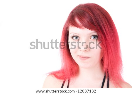 Unsure girl isolated on white