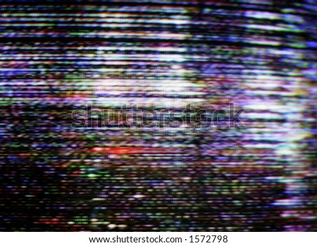 untuned picture on a television