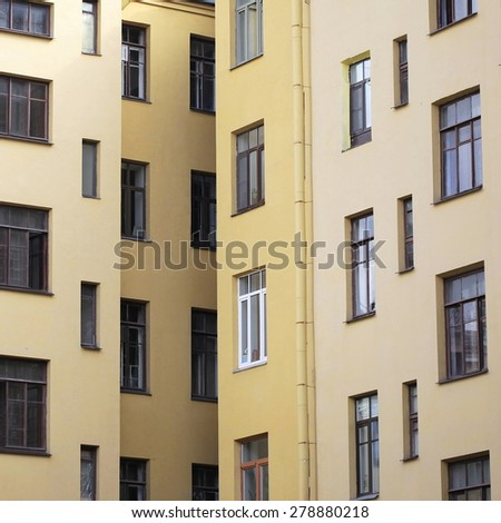 unusual abstract apartment building windows texture background